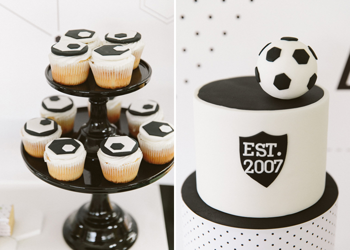 Soccer Inspired Party Hexagon Soccer Guest Dessert Feature