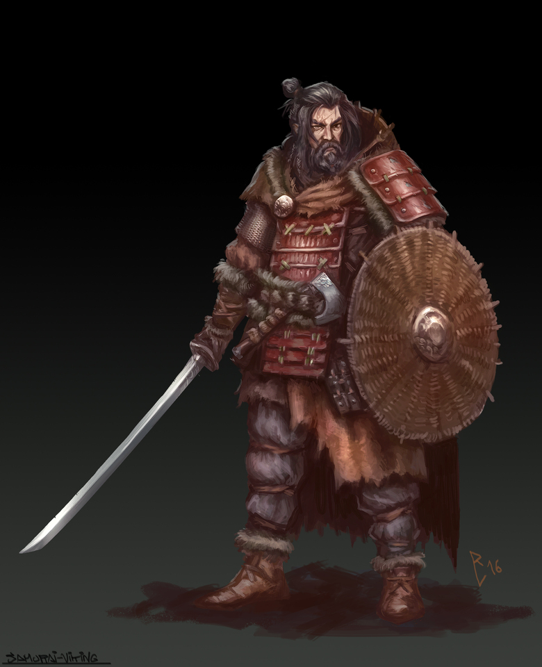 Viking? Samurai? All badass.