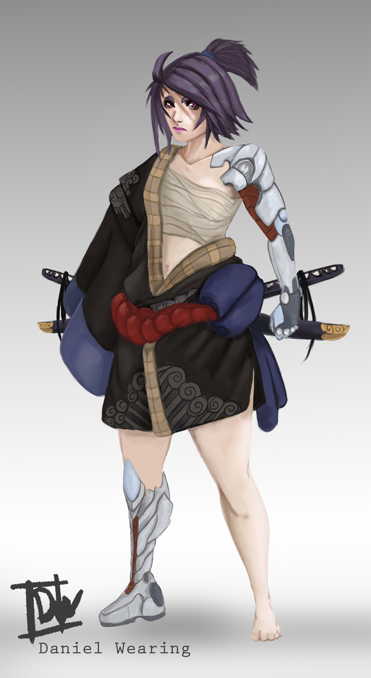 Character Design Technolized Samurai by Daniel Wearing