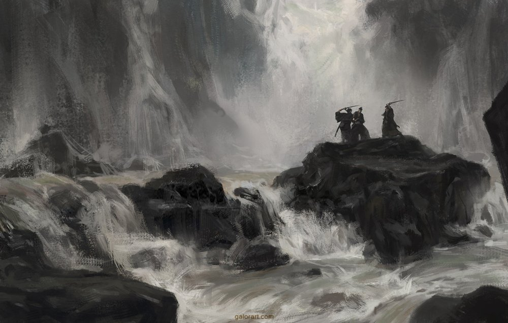 Fight under the Waterfall by Gal Or