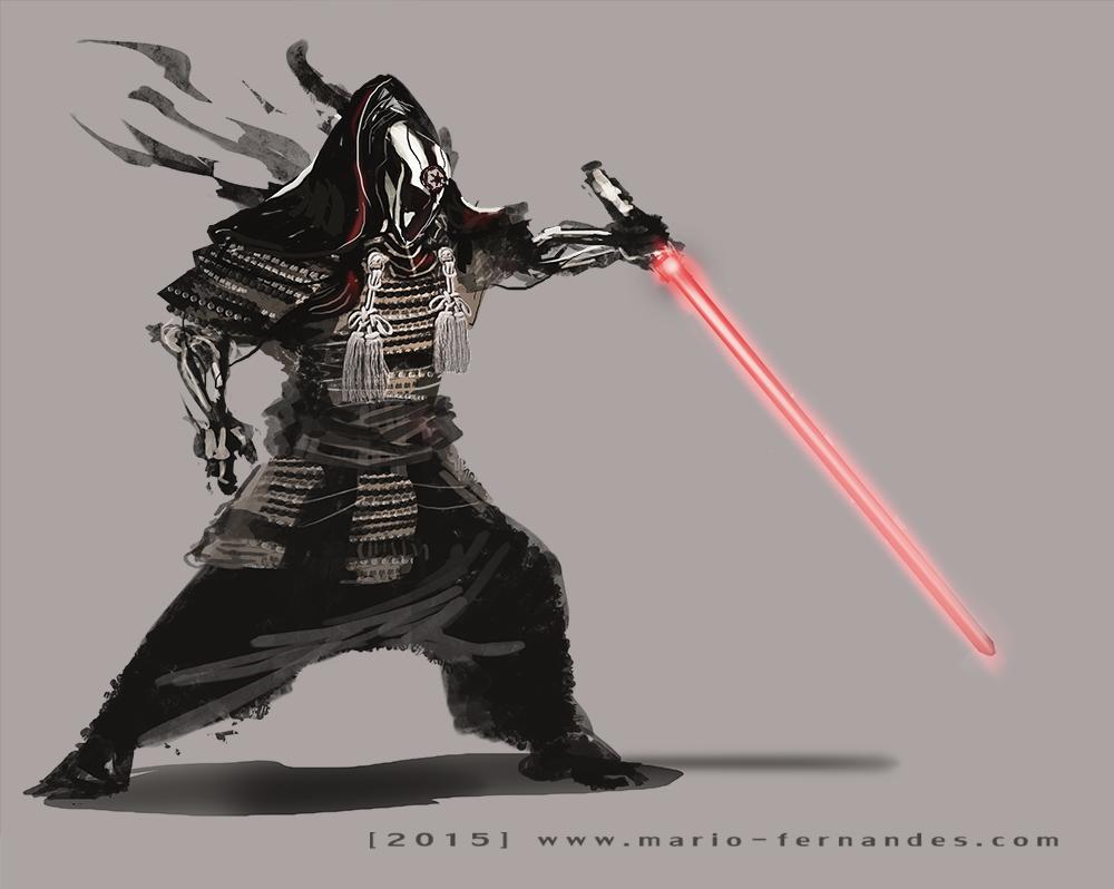 Star Wars Sith Vader Samurai Redesign by Mario Fernandes