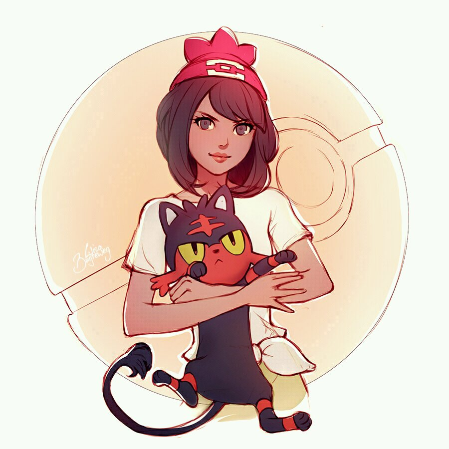 Pokemon Trainer Litten starter by Zolaida