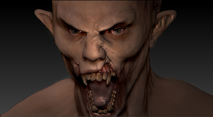 display_vampire_zombie_zbrush
