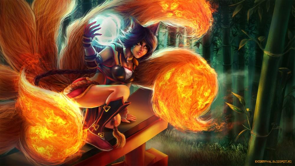 Firefox Ahri by Alexandra Tarca
