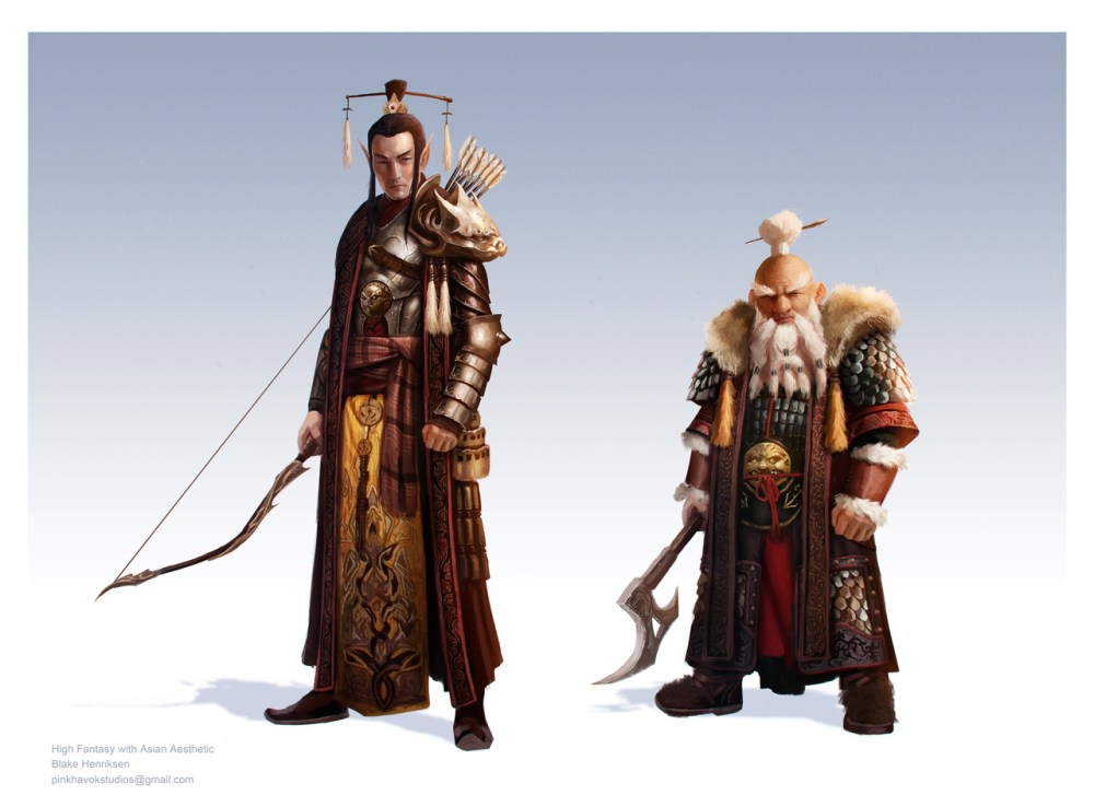High Fantasy Concepts With Asian Aesthetic by Blake Henriksen