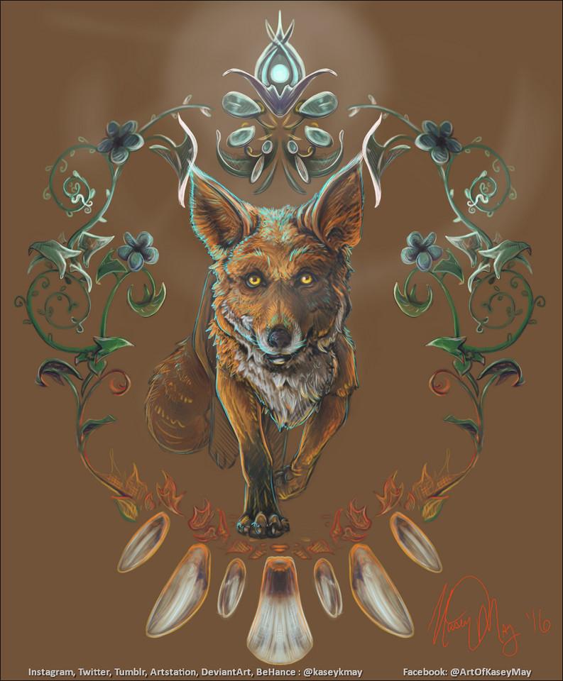 Fox Meditation by Kasey May