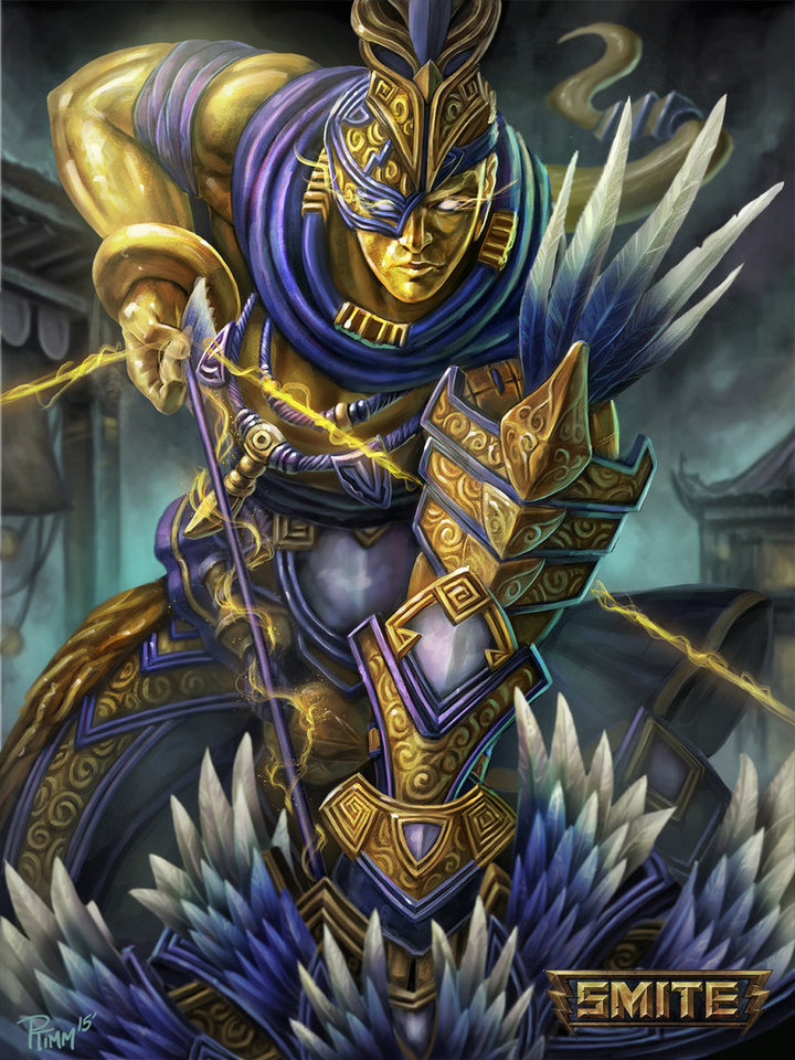 Official Hou Yi Smite Gold Skin by Andy Timm
