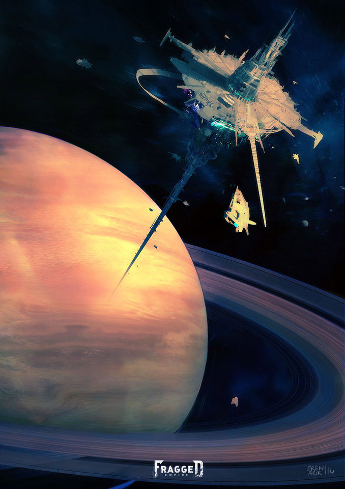 Alabaster Space Station by Eren ARIK