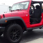 2014 Jeep Wrangler Sport 4x4 Willys Wheeler Edition profile shot