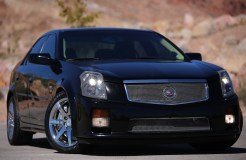 Front view of a Black 2004 Cadillac CTS-V