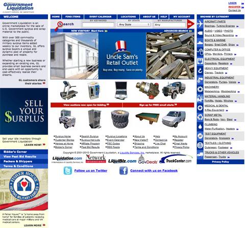Screenshot of GovLiquidations.com