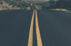 Arizona road looking east
