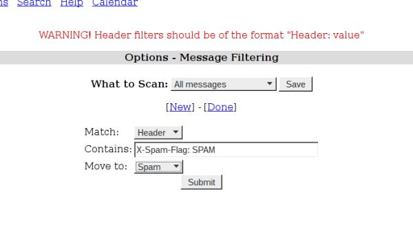 Squirrelmail: Spamassassin-Filter per Hand anlegen.