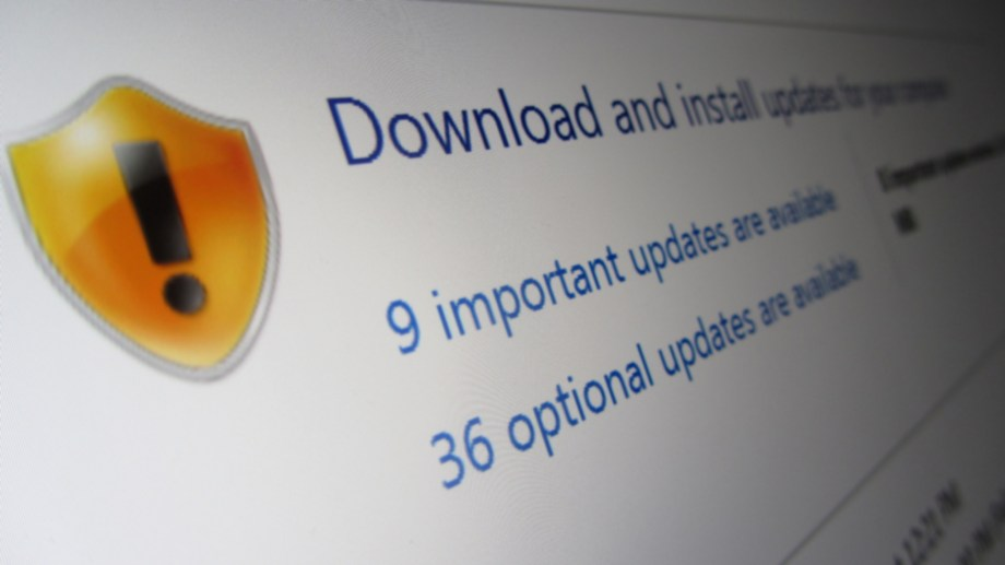 Windows Update screen on Windows 7, photo de  Christiaan Colen sous licence CC