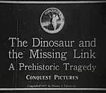 The Dinosaur And The Missing Link (1917) - Early Animation