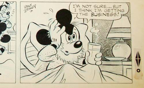 """Disney"" Signed Mickey Mouse Comic Strip"