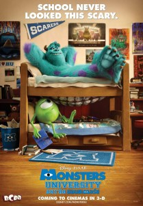 Poster with A-113 Hidden Easter Egg in Monsters U