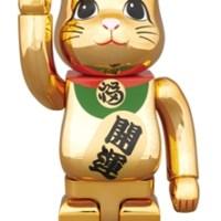 招き猫 金メッキ 参 400% ベアブリック (BE@RBRICK) [情報]