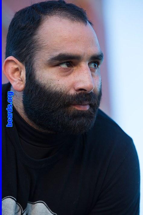 Chris' amazing beard progress