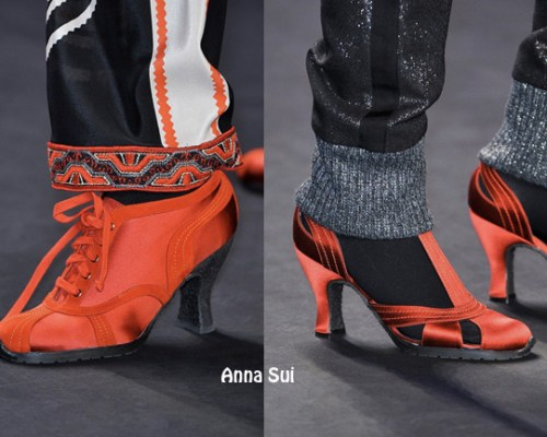 Red high heel shoes NYFW FW 2014