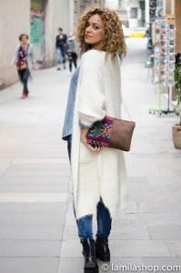 Long White Cardigan, Leather Bag | Cardigan Largo Blanco y Bolso de Piel | Fall-Winter 2015-16 / Otoño-Invierno 2015-16