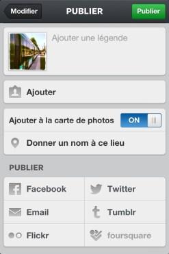 Un clic et votre photo partira également sur les réseaux de votre choix !