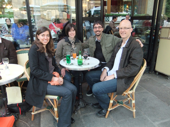 Giselle, Kirsten, Me, and Richard at Les Deax Maggots.
