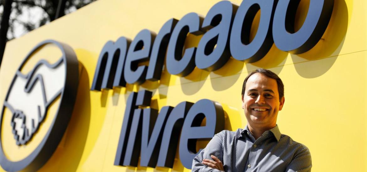 Stelleo Tolda, Chief Operating Officer (COO) of MercadoLibre (Online marketplace company) poses at the entrance of the company's headquarters in Sao Paulo, Brazil, July 10, 2017. REUTERS/Nacho Doce