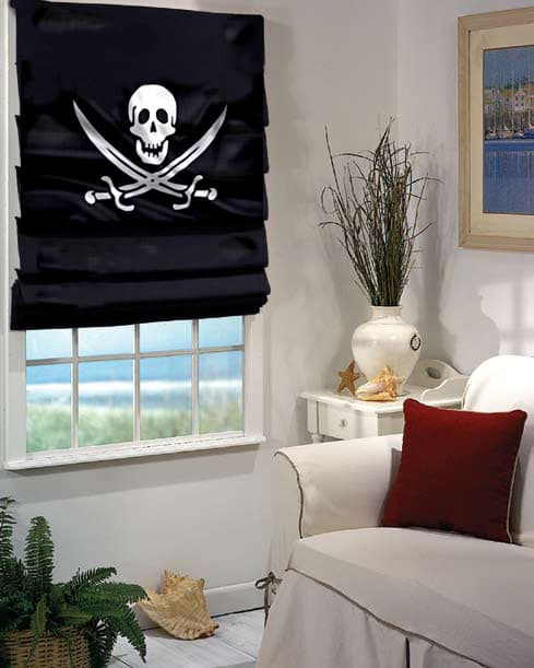 Pirate roman shades
