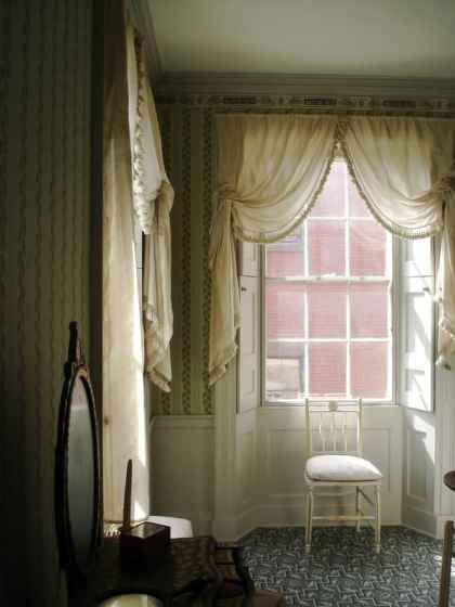Federal era vintage window treatments
