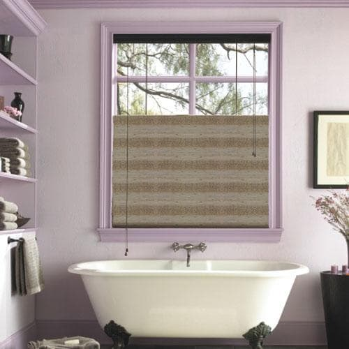 Bathroom window treatments the finishing touch for Blinds bathroom window