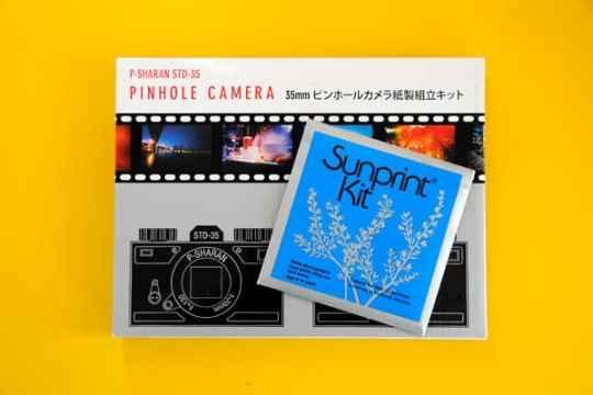 Build your own pinhole camera and sunprint kit