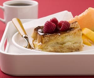 Christmas breakfast- french toast with pears