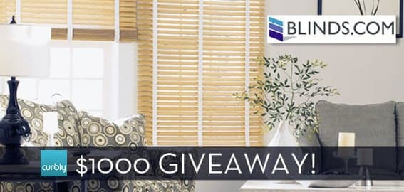 $1000 Giveaway from Curbly + Blinds.com!
