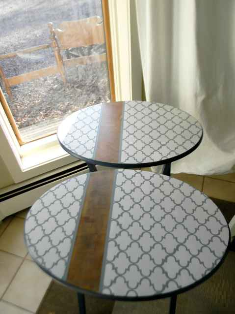 Painted Tray Tables from Simple Home Life