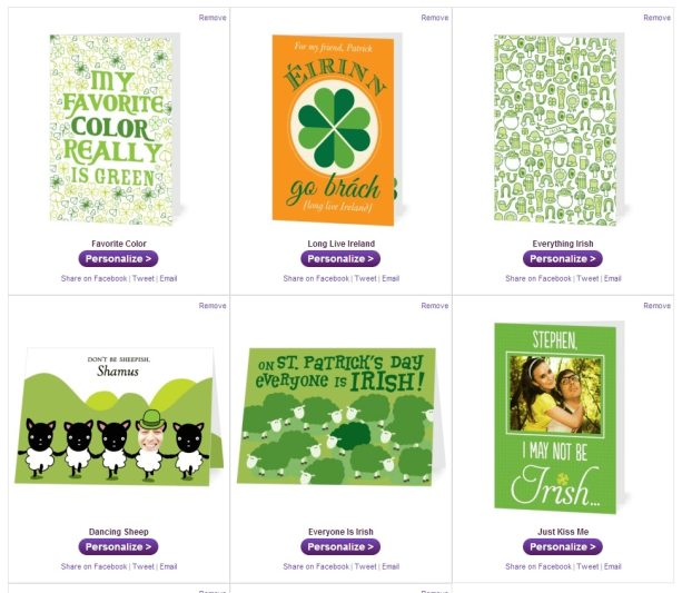 Treat St. Pattys cards