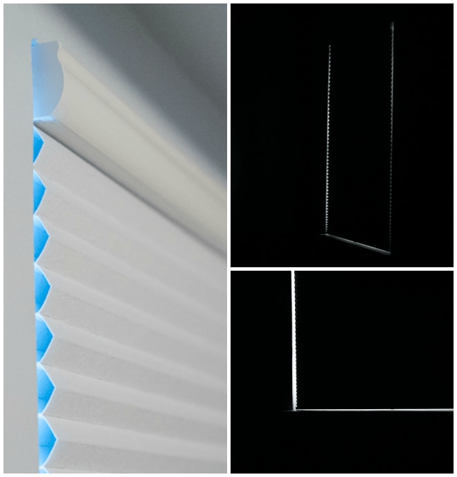blackout window shades before and after