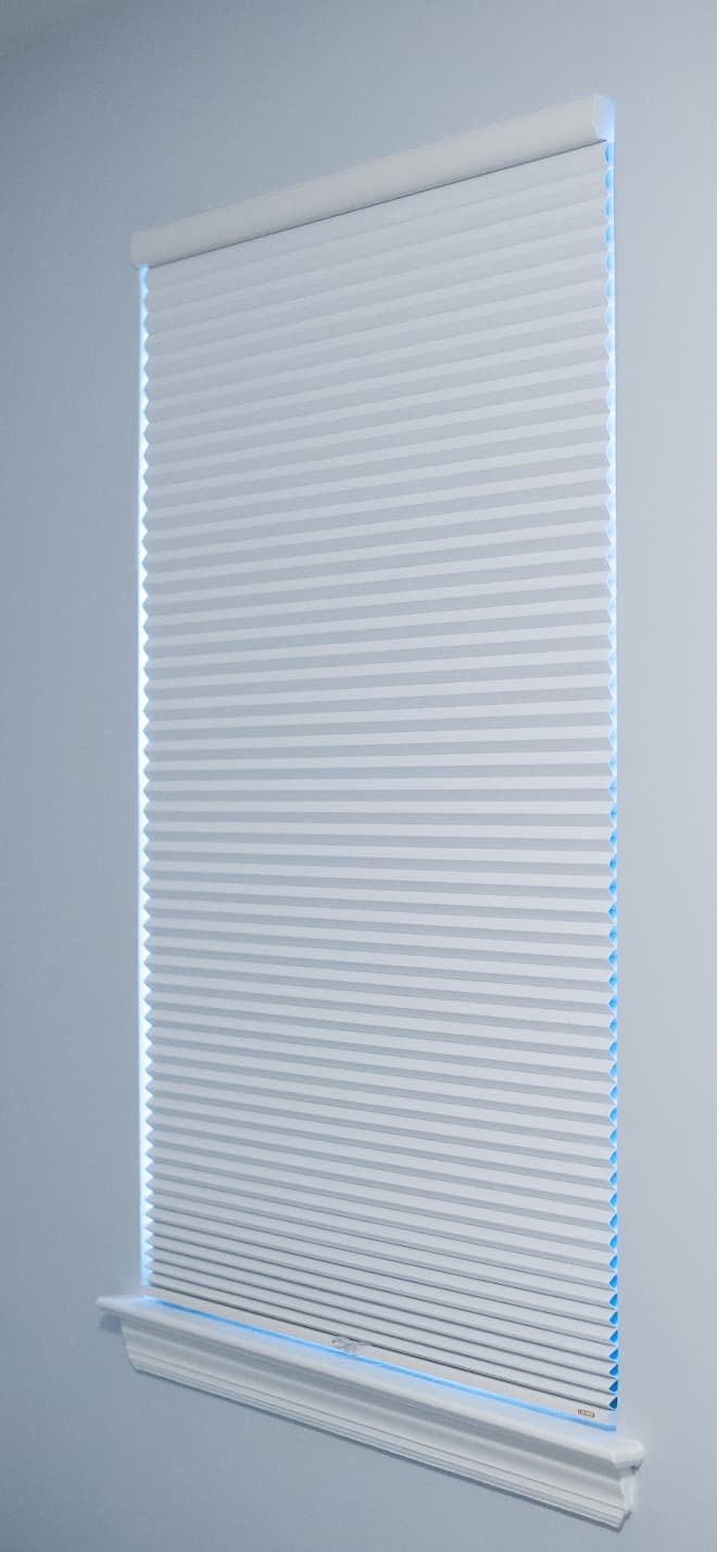 Graber Crystal Pleat Blackout Shades in Moonlight