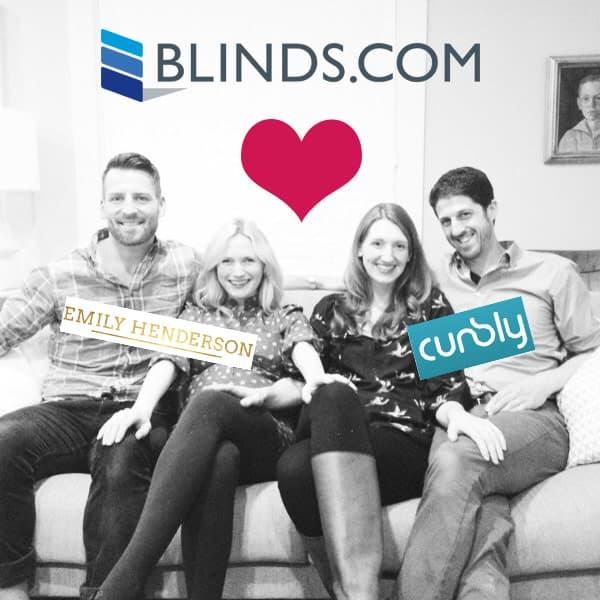 Blinds.com + Curbly + Emily Henderson