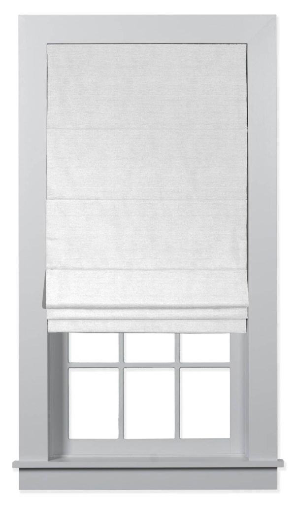 Blinds.com Classic Roman Shades in Lexi Wite