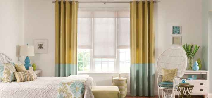 Color Blocked Curtains!
