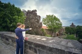 Besondere Brautbilder von Eurem Hochzeitsfotografen. Burg Nuernberg!