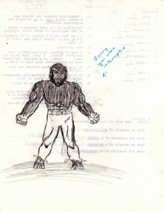 My Werewolf By Night ripoff.  I think I had to rush to finish, as the papers were called to be turned in, hence the apology note.