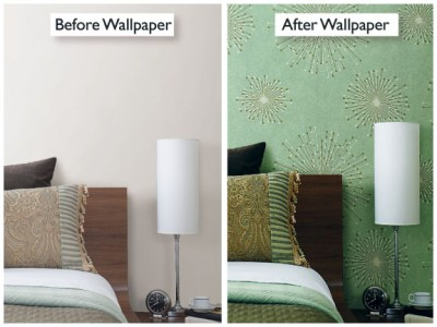 Before & After Room Makeovers with Wallpaper – Brewster Home