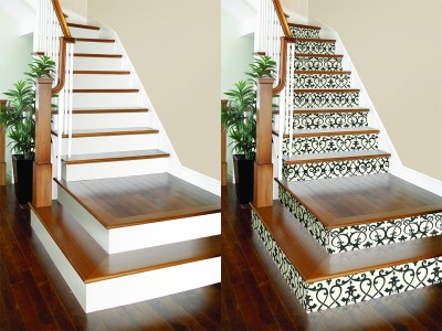 DIY Project: Wallpaper on Stair Risers! – Brewster Home