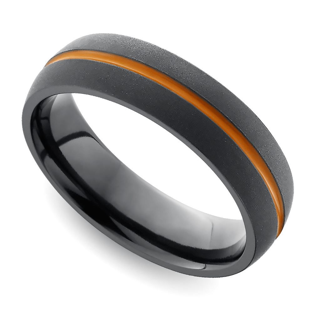 cool mens wedding rings for sports fanatics orange wedding rings men s wedding rings