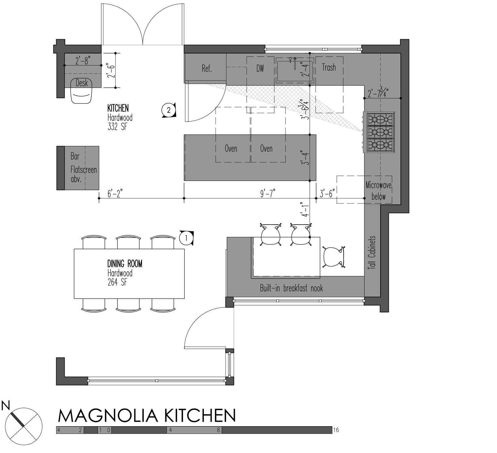 5 modern kitchen designs principles standard kitchen cabinet height BUILD LLC Magnolia Kitchen plan
