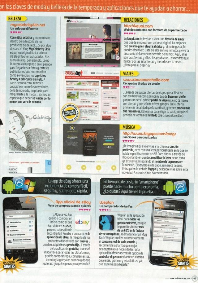 ¡¡Busco Un Chollo aparece en la revista Cuore!!