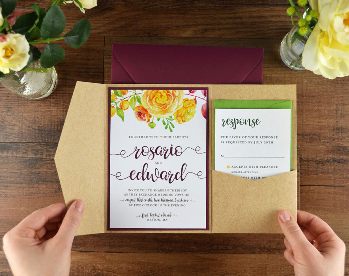 4 Ways to DIY Elegant Vellum Wedding Invitations Cards Pockets