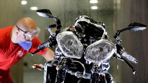 limpeza da moto